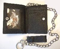 Peněženka Harley-Davidson Black Debossed Short Biker Chain Wallet