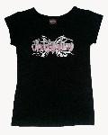 Dětské oblečení Harley-Davidson černé tričko